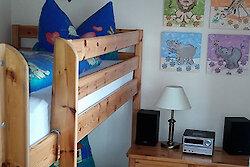 Schlafzimmer mit Stockbett Fewo Panorama
